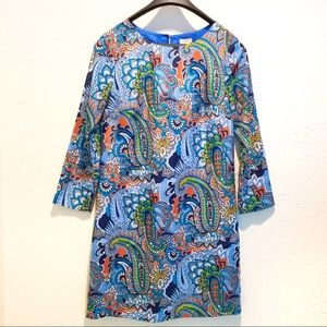 NWOT J Crew Paisley Sheath Dress, Size 00